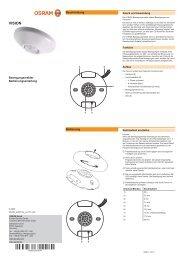 Bedienungsanleitung OSRAM VISION Sensor