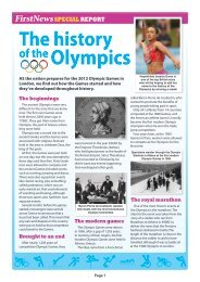 History of the Olympics Special Report and Quiz.pdf - First News