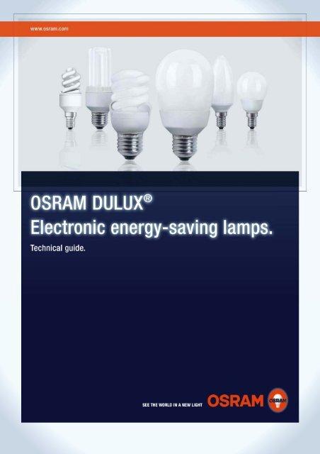 OSRAM DULUX electronic energy-saving lamps