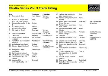 to download the track listing in PDF format. - Royal Academy of ...
