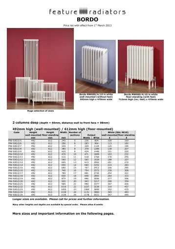 bordo - Feature Radiators