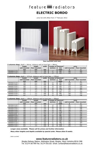 ELECTRIC BORDO - Feature Radiators