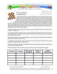 Family Quilts - Puzzlers Paradise