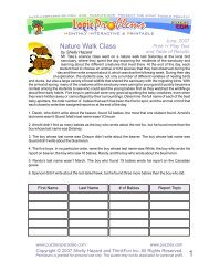 Nature Walk Class - Puzzlers Paradise