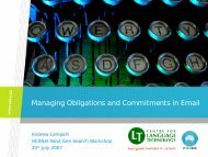 Managing Obligations and Commitments in Email - HCSNet