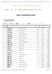 WRC Rallye d'Australie- Classement, Info, Vidéos et ... - Motor 2000