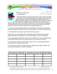 Riding Lessons - Puzzlers Paradise