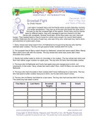 Snowball Fight - Puzzlers Paradise