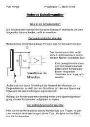 Handout - Projektlabor - TU Berlin