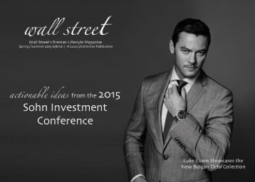 Wall Street by LuxuryCollective Sohn Conference 2015