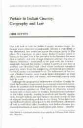 Preface to Indian Country - Native American Constitution and Law ...