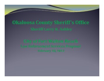 Feb. 28 - FWB Proposal Package - Okaloosa County Sheriff's Office