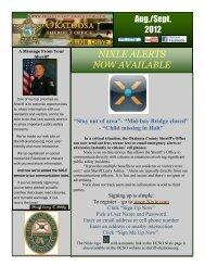 Sep. 5 - Aug Sept Newsletter - Okaloosa County Sheriff's Office