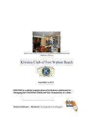 Kiwanis Club of Fort Walton Beach - Okaloosa County Sheriff's Office