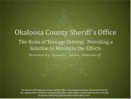 Nov. 29 - Okaloosa County Sheriff's Office