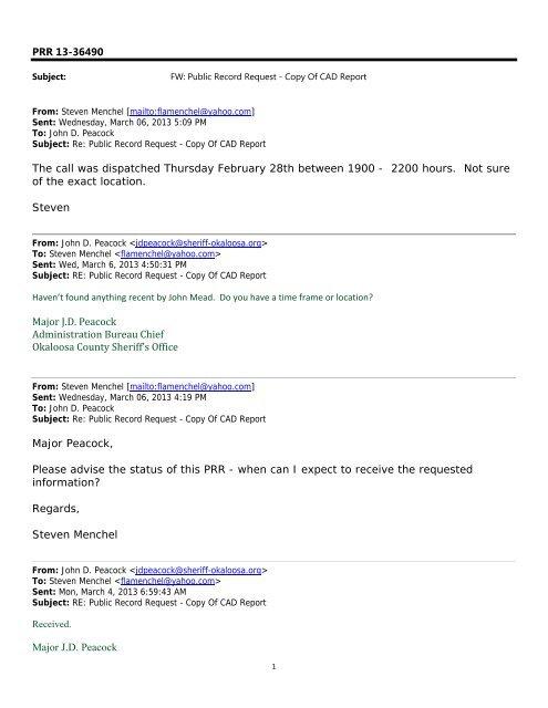 Mar 8 - Public Records Request 13-36490 - Okaloosa County ...