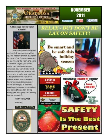 november 2011 - Okaloosa County Sheriff's Office