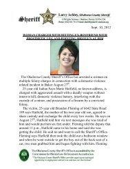 Sep. 10 - Okaloosa County Sheriff's Office