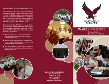 Annual Fund Brochure - Bishop Watterson High School