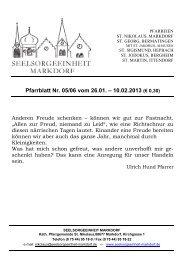 Pfarrblatt Nr. 05/06 vom 26.01. – 10.02.2013 (€ 0,30)