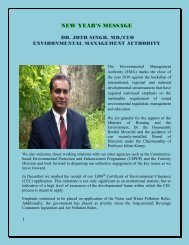 NEW YEAR'S MESSAGE - Environmental Management Authority