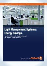 Light Management Systems - Energy Savings - Osram