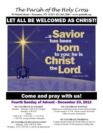 LET ALL BE WELCOMED AS CHRIST! Come and pray with us!