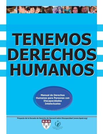 Manual de Derechos Humanos para Personas con Discapacidades ...