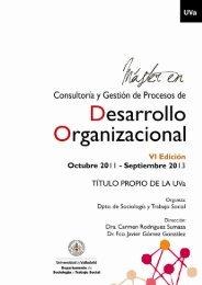 Dossier del Máster - Plataforma de ONG de Acción Social