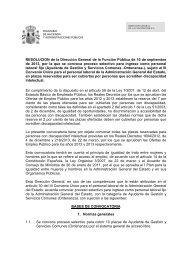 convocatoria - Ministerio de Hacienda y Administraciones Públicas