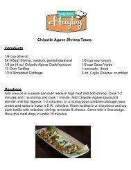 Chipotle Agave Shrimp Tacos