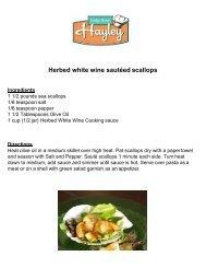 Herbed white wine sautéed scallops