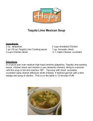 Tequila Lime Mexican Soup