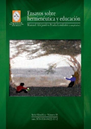 Ensayos sobre hermenéutica y educación