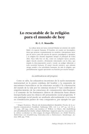 Lo rescatable de la religión para el mundo de hoy - Ciudad Redonda
