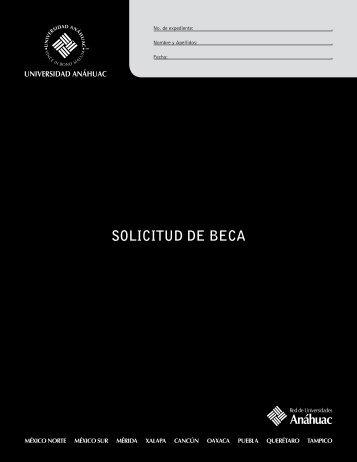 SOLICITUD DE BECA