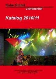 Katalog 2010/11 - Kube GmbH Lichttechnik