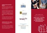 dirección y gestión de proyectos en organizaciones no lucrativas