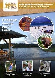Galapagos Amazon Andes Coast