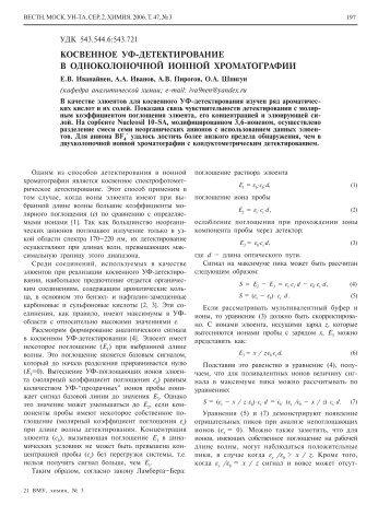 косвенном УФ-детектировании