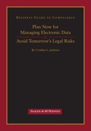 Plan Now for Managing Electronic Data Avoid Tomorrow's ... - Google