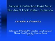 General Contraction Basis Sets: fast direct Fock Matrix formation