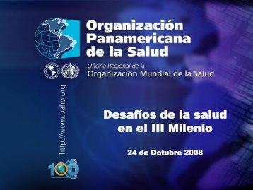 Dr. Gonzales Desafios de la Salud OPS - FEPAS
