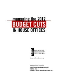 Managing the 2012 Budget Cuts in House Offices - Congressional ...
