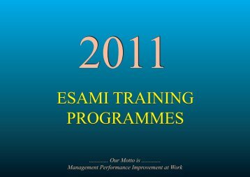 programmes - Eastern and Southern African Management Institute