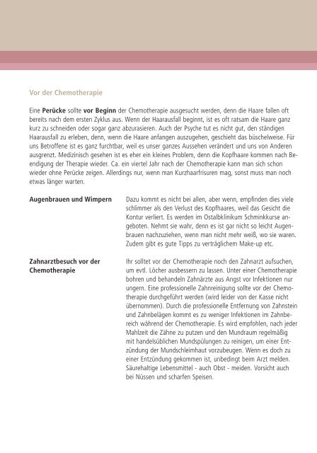 Informationen zur Chemotherapie - Ostalb-Klinikum
