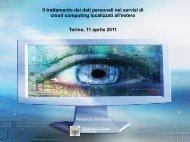 Il trattamento dei dati personali nei servizi di cloud computing ...