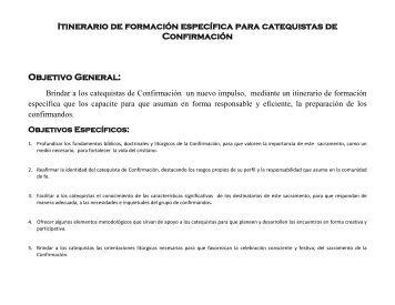 3-Itinerario para la formación de los catequistas de Confirmación.pdf