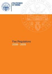 2008 - 2009 Fee Regulations - Politecnico di Torino