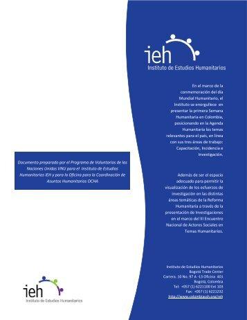 Relatoria Semana Humanitaria_IEH - UNV - Instituto de Estudios ...